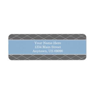 Diamond Background Address Labels (Blue / Gray)