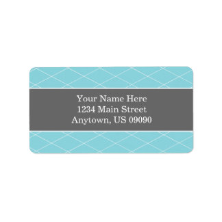 Diamond Background Address Labels (Teal / Gray)