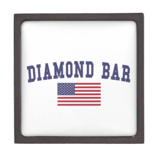 Diamond Bar US Flag Jewelry Box