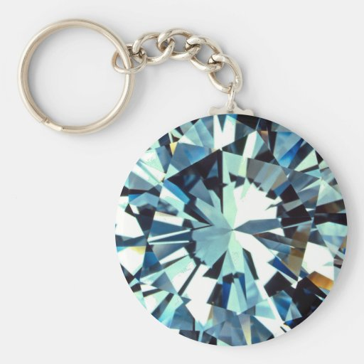 Basic Diamond: Diamond Basic Round Button Keychain