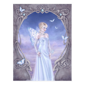 Diamond Birthstone Fairy Postcard