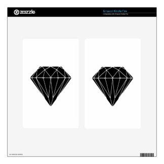 Diamond black kindle fire decals