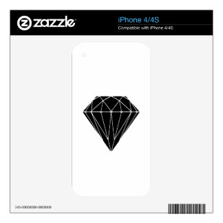 Diamond black skins for iPhone 4S