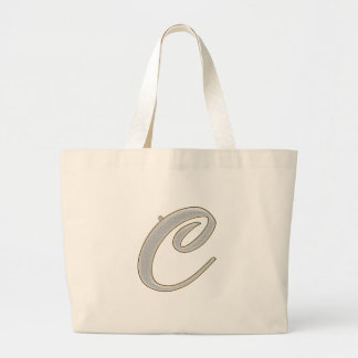 Diamond Bling C Large Tote Bag