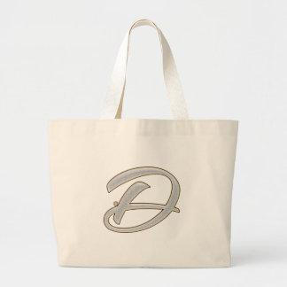 Diamond Bling D Large Tote Bag