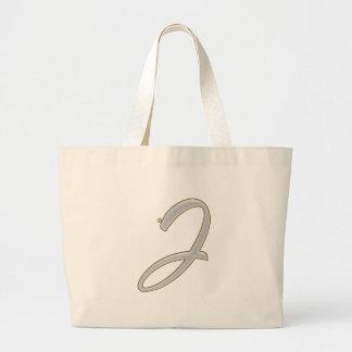 Diamond Bling J Large Tote Bag