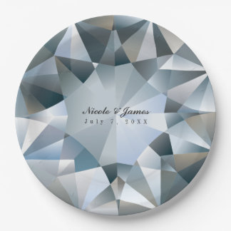 Diamond Bling Jewelry Elegant Jewel Party Paper Plate