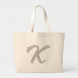 Diamond Bling K Large Tote Bag