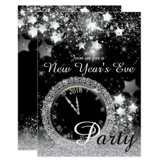 Diamond Bling New Year's Eve Party Card