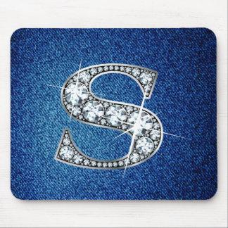 """""""Diamond Bling"""" on Denim Mousepad"""