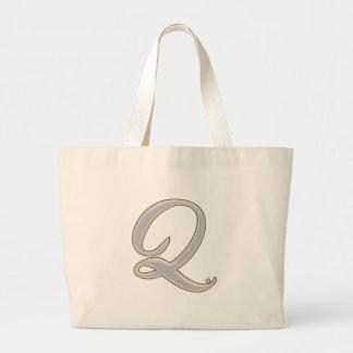 Diamond Bling Q Large Tote Bag