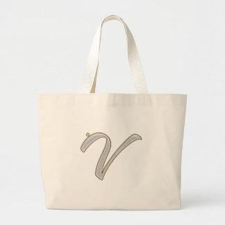 Diamond Bling V Large Tote Bag