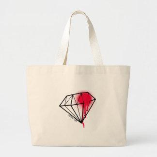 Diamond blood large tote bag