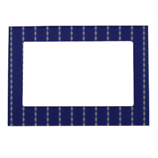 Diamond Blue Stripes Traditional Photo Frame