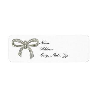 Diamond Bow Address Labels