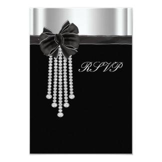 Diamond Bow Silver Black Party Template