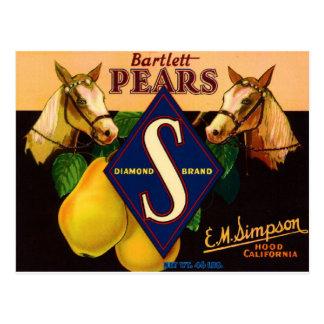 Diamond Brand Pears Post Card