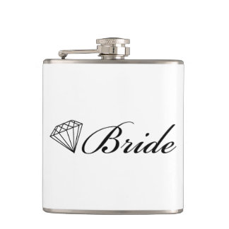 Diamond Bride Black Hip Flask