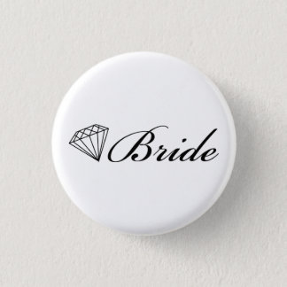 Diamond Bride Pin Black On White