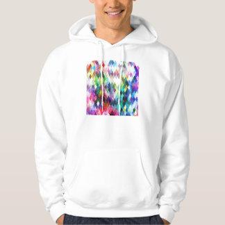 Diamond Bright Painted Design Hooded Sweatshirts