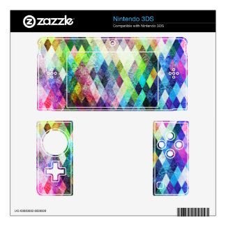 Diamond Bright Painted Design Decal For Nintendo 3DS