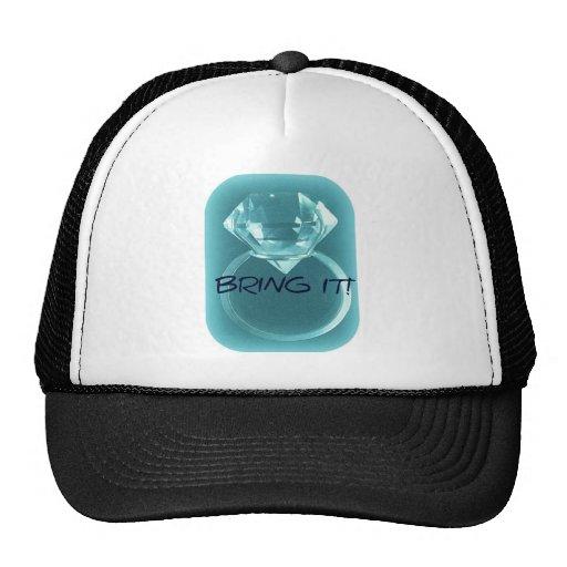 DIAMOND BRING IT BLUE PRINT TRUCKER HAT