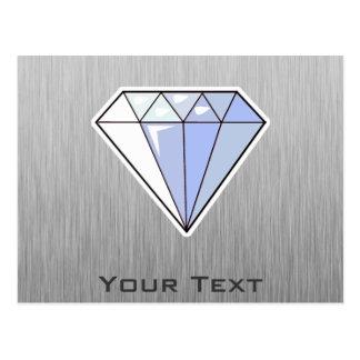Diamond; Brushed metal-look Postcard