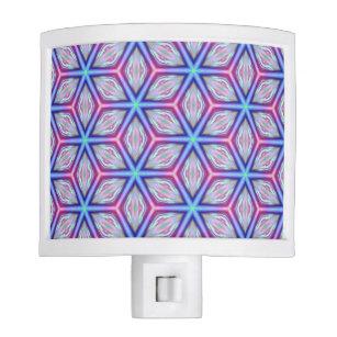 Diamond Burst Kaleidoscopic Flower Tessellation Night Light