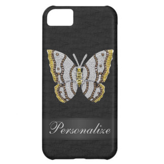 Diamond Butterfly Black Personalized iPhone 5 Cover For iPhone 5C
