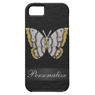 Diamond Butterfly Black Personalized iPhone 5 iPhone SE/5/5s Case