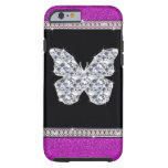 Diamond Butterfly Hot Pink Glitter iPhone 6 Case