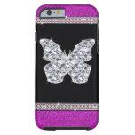 Diamond Butterfly Hot Pink Glitter iPhone 6 Case