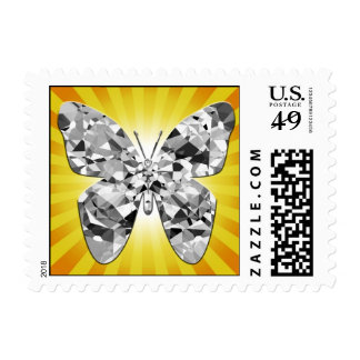 Diamond Butterfly Postage Stamps