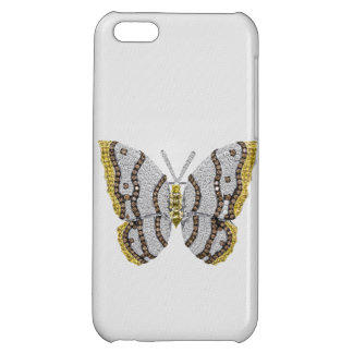 Diamond Butterfly Print Case For iPhone 5C