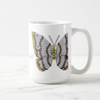 Diamond Butterfly Print Coffee Mug
