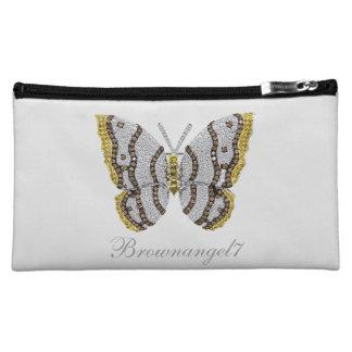 Diamond Butterfly Print Cosmetic Bag