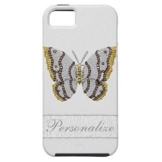 Diamond Butterfly Print Personalized iPhone SE/5/5s Case