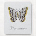 Diamond Butterfly Print Personalized Mousepad