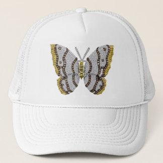 Diamond Butterfly Print Trucker Hat