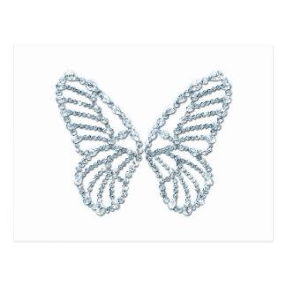Diamond Butterfly Stylish Design Postcard
