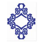 Diamond Celtic Knotwork Postcard