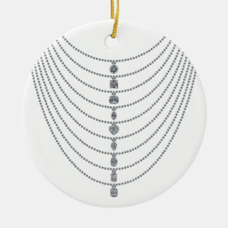 Diamond Chains with Unique Diamond Pendants Ceramic Ornament