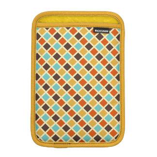 Diamond Checkered Blue Yellow Red Retro Colors iPad Mini Sleeve