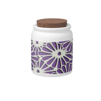 Diamond Chrysanthemums delicate pattern Candy Jars