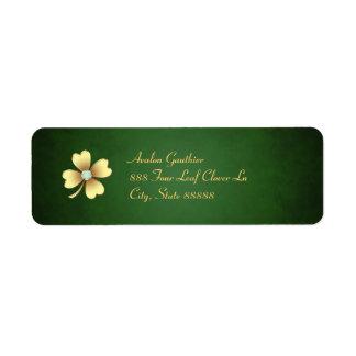 Diamond Clover St Patrick's Day Address Labels