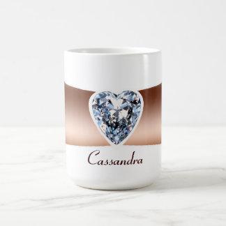 Diamond Copper Personalized Mug