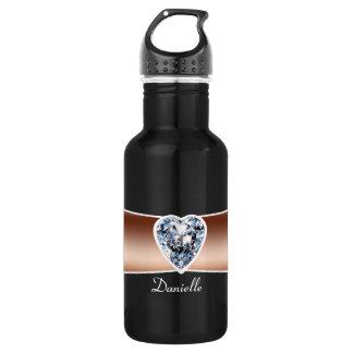 Diamond - Copper Personalized 18oz Water Bottle
