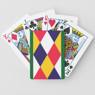 Diamond cratch pattern deck of cards