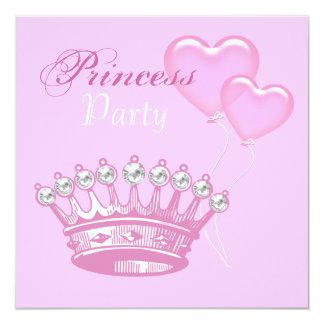 Diamond Crown Princess Birthday Party invitation