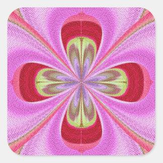 Diamond Crystal RedRose PinkRose Petals Square Stickers